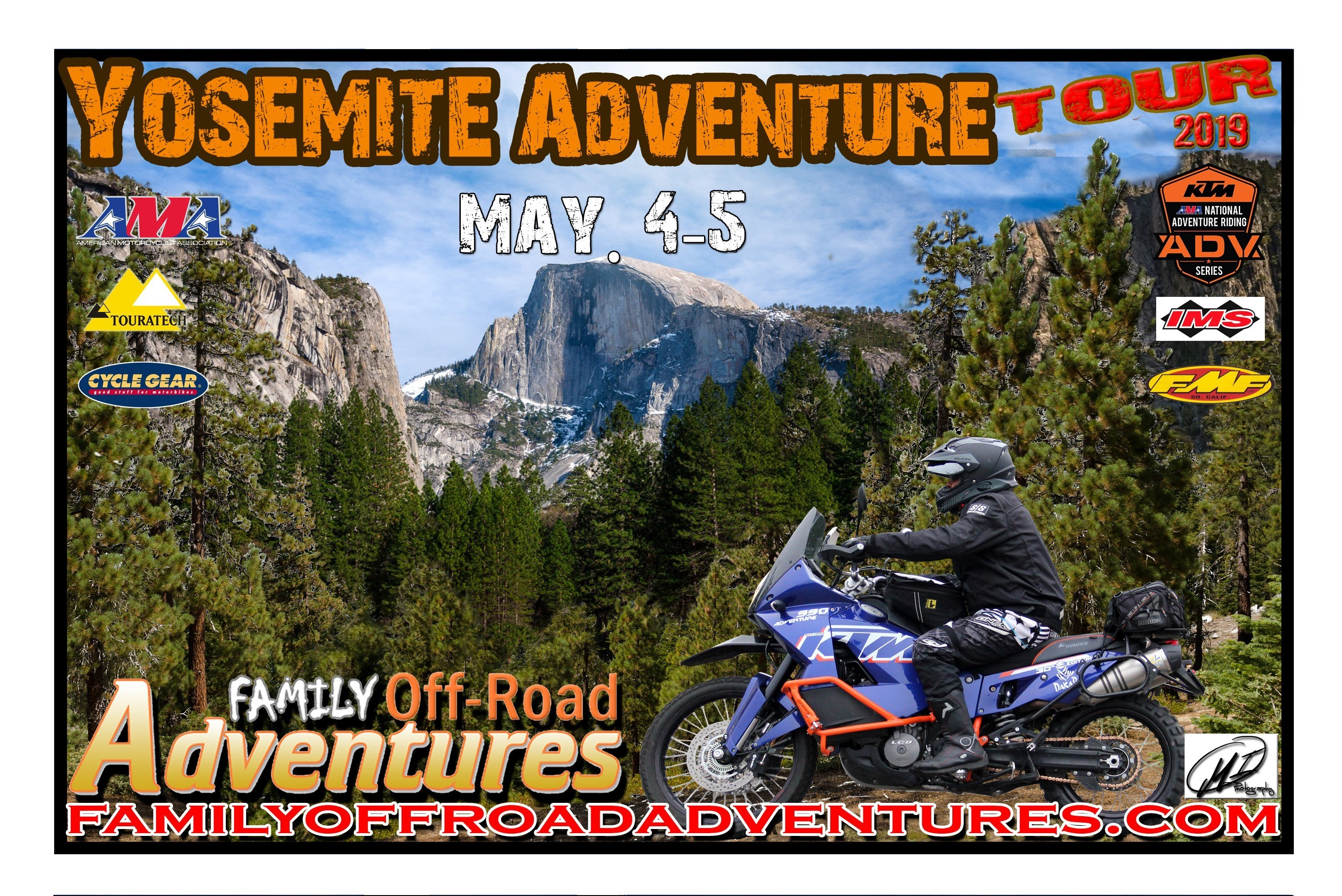 2019 Yosemite Adventure Tour Flyer